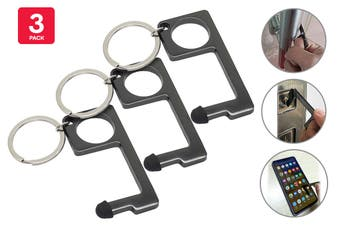 Certa Contact-Free Door Opener Keychain (Graphite, 3 Pack)
