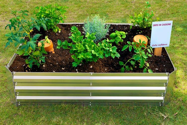 Certa Galvanised Garden Bed Planter 120 x 90 x 30cm (Medium)