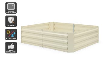 Certa Cream Powder Coated Raised Garden Bed (Medium, 120x90x30cm)