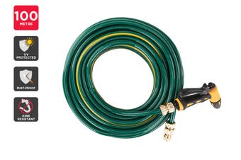 Certa Garden Hose with Spray Gun (100m)