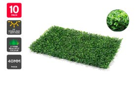 Certa Garden Wall Artificial Boxwood Hedge Mat (10 Pack)