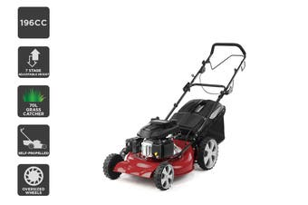 "Certa 21"" 196cc 4-in-1 Self Propelled Petrol Lawn Mower"