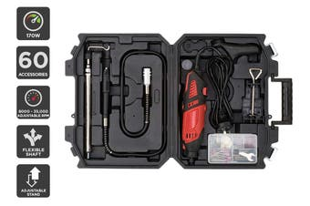 Certa 170W Rotary Tool with Flexible Shaft and 60 Accessories
