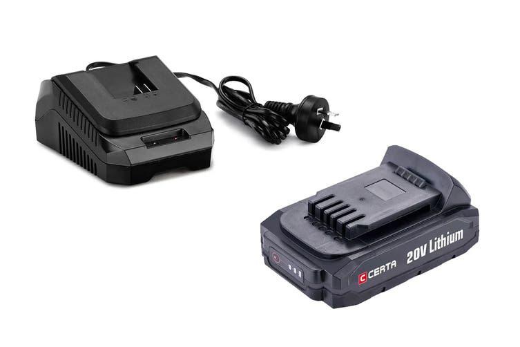 Certa PowerPlus 20V 2.0Ah Charger Combo