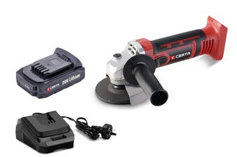 Certa PowerPlus 20V Cordless Angle Grinder Kit