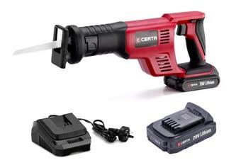 Certa PowerPlus 20V Cordless Reciprocating Saw Kit