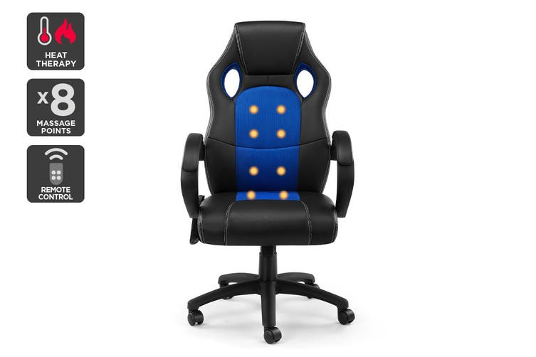 Ergolux Trooper Gaming Massage Chair (Blue)