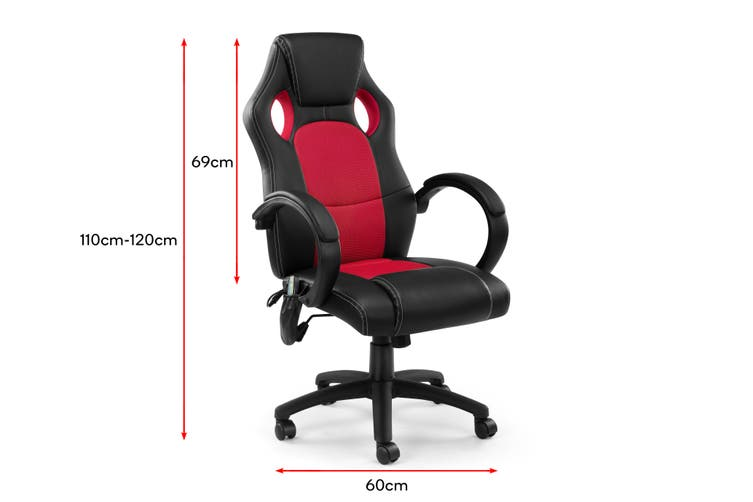 Ergolux Trooper Gaming Massage Chair (Red)