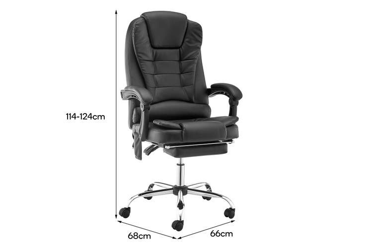 Ergolux Saratoga 8 Point Heated Vibrating Massage Office Chair (Black)