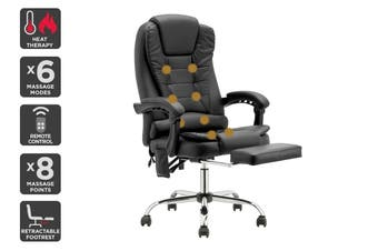 Ergolux Saratoga 8 Point Heated Vibrating Massage Office Chair (Black)