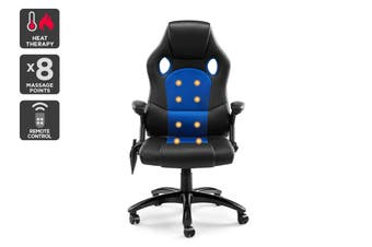 Ergolux RX8M Massage Gaming Office Chair (Blue - Racing Series)