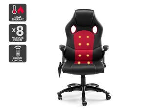 Ergolux RX8M Massage Gaming Office Chair (Red - Racing Series)