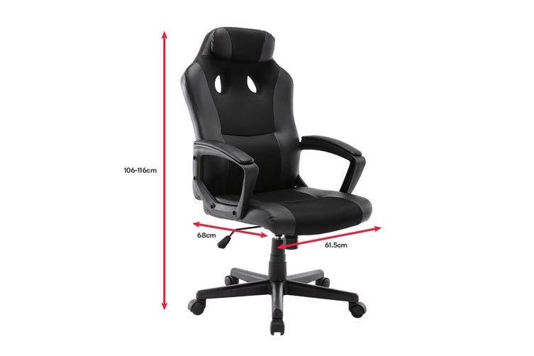 Ergolux Dexter Gaming Chair (Black/Black)