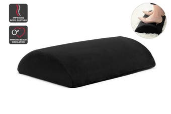 Ergolux Ergonomic Velvet Footrest (Black)