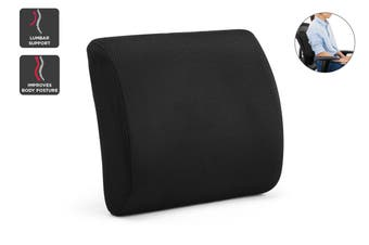 Ergolux Lumbar Support Back Cushion (Black)