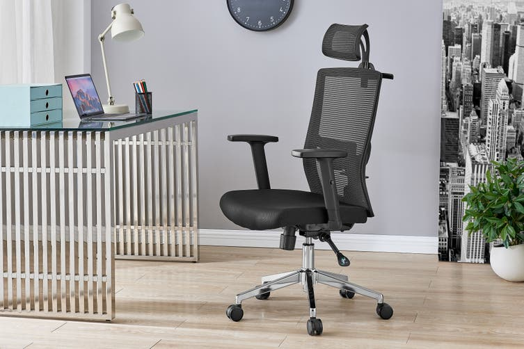 Ergolux Everest Ergonomic Chair (Black)