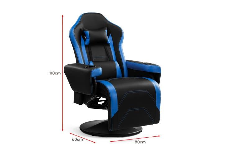 Ergolux Hotshot Recliner Gaming Chair (Black/Blue)