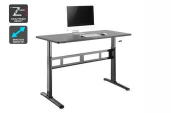 Ergolux Wind-Up Height Adjustable Sit Stand Desk (Black)