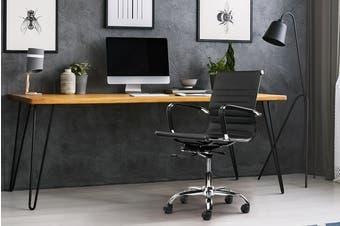 Ergolux Atticus Chrome Metal Chair