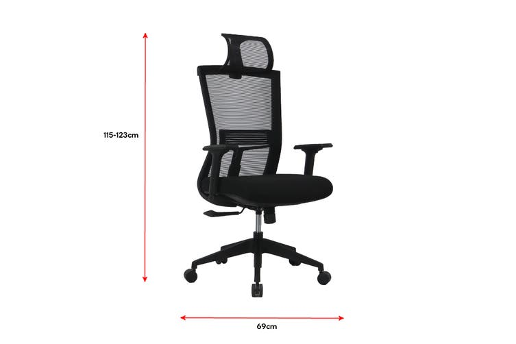 Ergolux Scorpio Mesh Office Chair With Head Rest