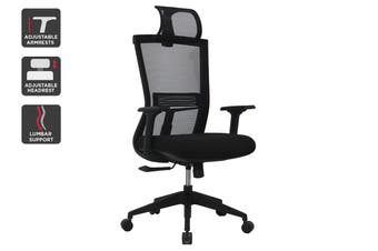 Ergolux Scorpio Mesh Office Chair With Head Rest