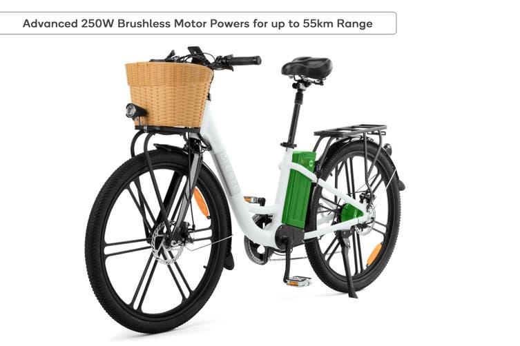 "Fortis 26"" 36V 10Ah City Breeze Women's Electric Road Bike"