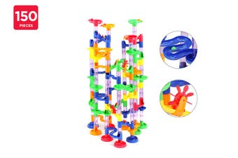 150 Piece DIY Marble Run Race Set