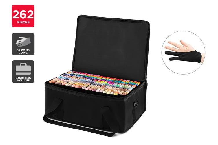 262-Piece Colour Marker Set (Black)