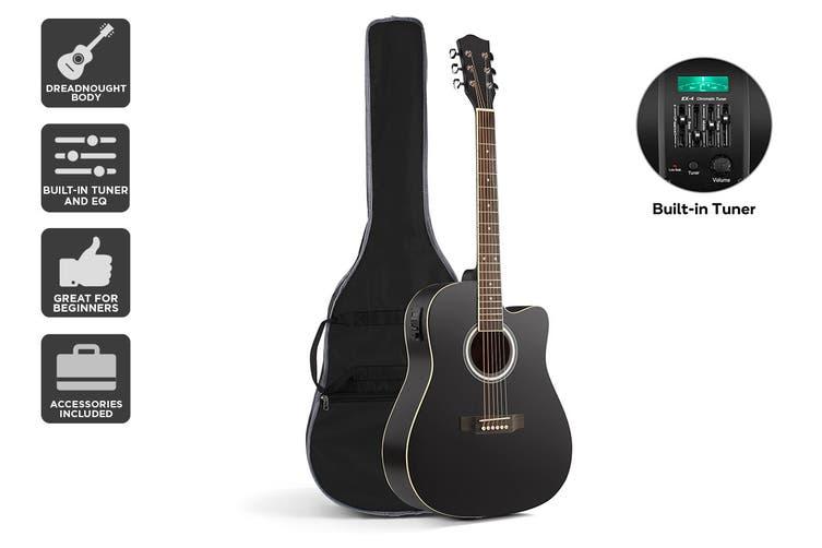 """Royale 41"""" Acoustic Electric Guitar (Black)"""