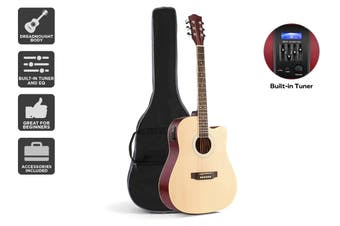 "Royale 41"" Acoustic Electric Guitar (Natural)"