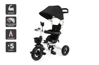 6-in-1 Baby Walker & Trike (Black)