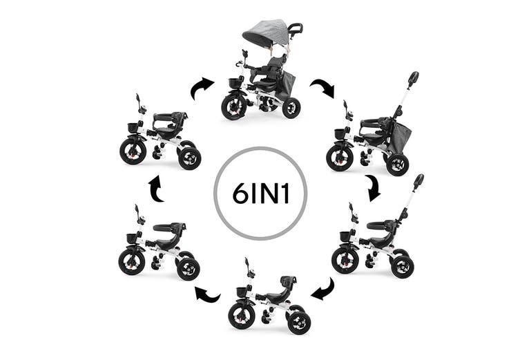 6-in-1 Baby Walker & Trike (Grey)