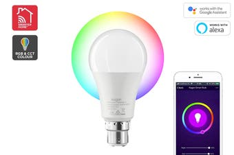 Kogan SmarterHome™ 10W RGB + CCT Colour & Warm/Cool White Smart Bulb (B22)