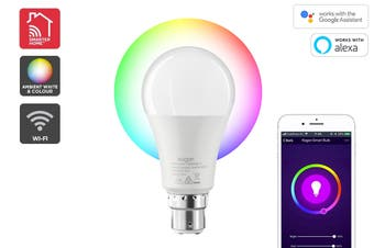 Kogan SmarterHome™ 10W Colour & Warm White Smart Bulb (B22, Wi-Fi)