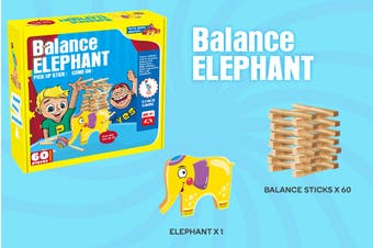 Balance Elephant Board Game
