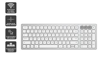 Kogan Bluetooth & 2.4Ghz Dual Mode Wireless Keyboard (Silver)