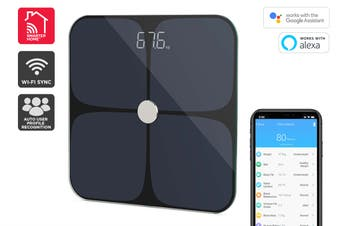 Kogan SmarterHome™ Smart Scale & Body Analyser (Black)