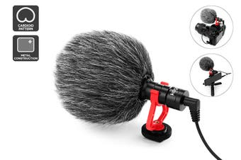Kogan On-Camera Microphone with Windshield