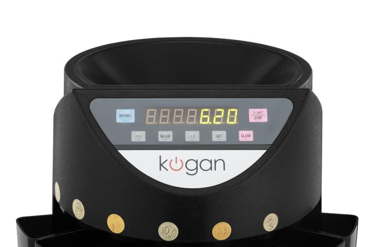 Kogan Coin Sorter & Counter (Black)