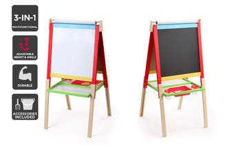 Kids Double Sided Wooden Art Easel