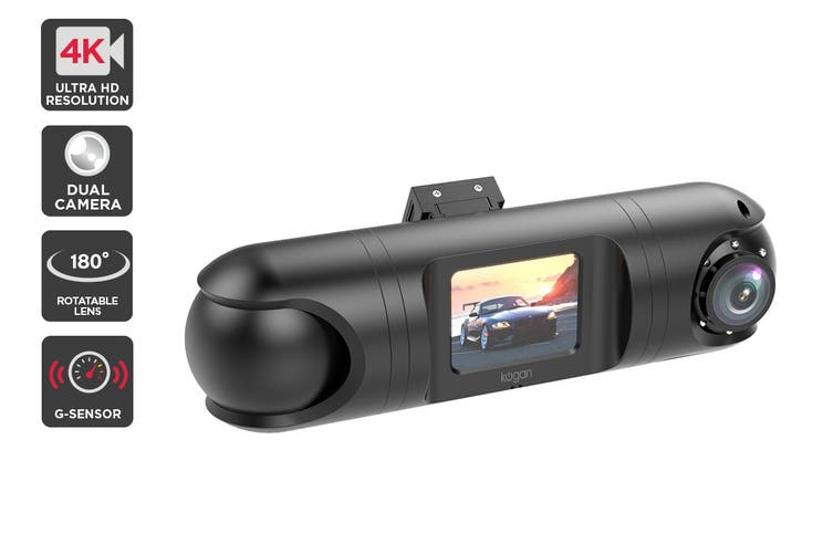 Kogan 4K Dual Lens Dash Camera