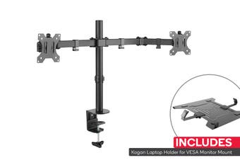 Kogan Articulating Dual Monitor Mount and Laptop Holder Combo