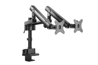 Kogan Full Motion Spring-Assisted Height Adjustable Dual Monitor Mount Pro (Ostia Series - Black)