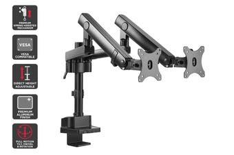 Kogan Full Motion Spring-Assisted Height Adjustable Dual Monitor Mount Pro (Ostia Series - Black)