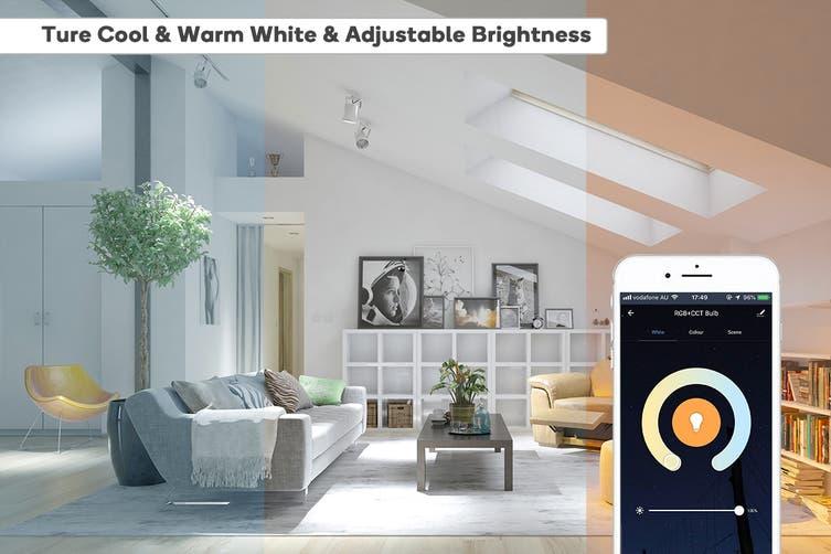 Kogan SmarterHome™ 5W RGB + CCT Colour & Warm/Cool White Smart Bulb (E14) - Pack of 2
