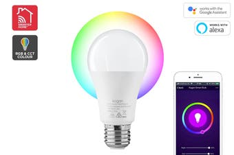 Kogan SmarterHome™ 10W RGB + CCT Colour & Warm/Cool White Smart Bulb (E27)