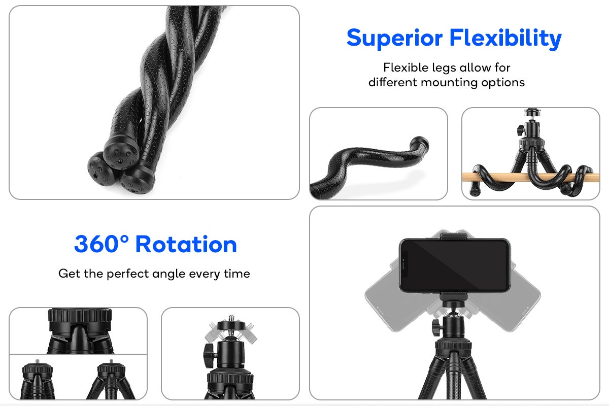 Superior Flexibility and 360o Rotation