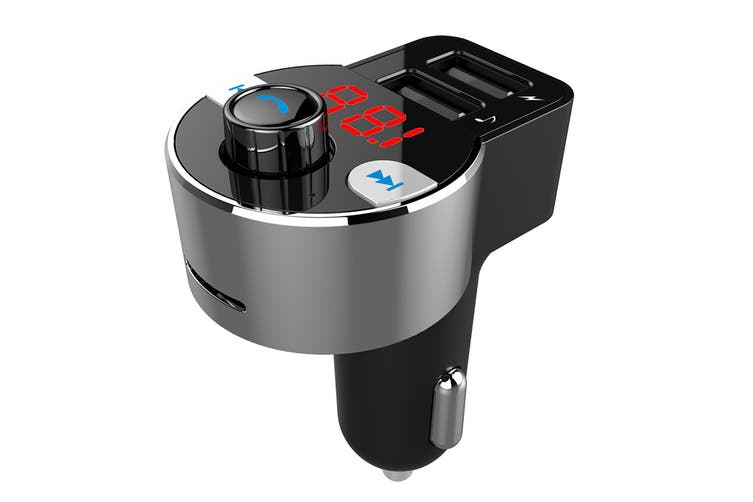 Kogan FM Transmitter Dual USB Car Charger with SD Card Reader