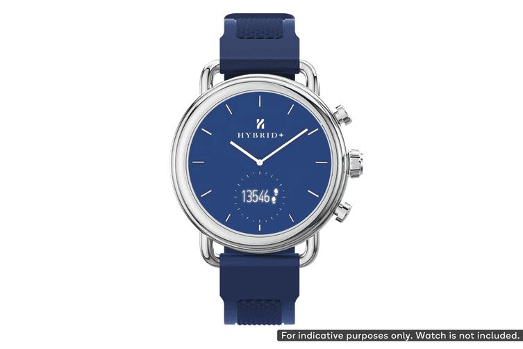 Silicone Strap for Kogan Hybrid+ Smart Watch (Space Blue)