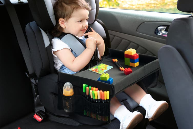 Kogan Kids Car Travel Eat and Play Activity Lap Tray (Black)